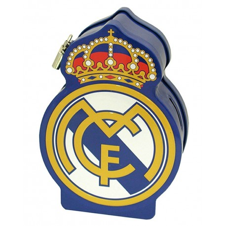 HUCHA ESCUDO DE METAL RELIEVE REAL MADRID
