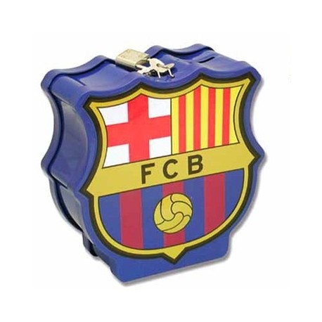HUCHA ESCUDO DE METAL RELIEVE FCBARCELONA