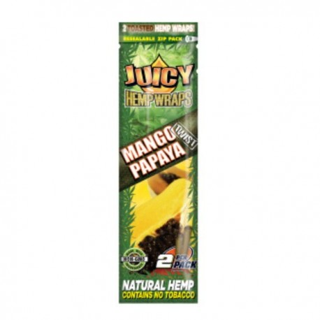 JUICY HEMP WRAPS MANGO-2 BLUNTS -