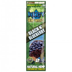JUICY HEMP ROLLS BLACK BLUEBERRY -2 BLUNTS -