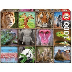 1000 COLLAGE DE ANIMALES SALVAJES