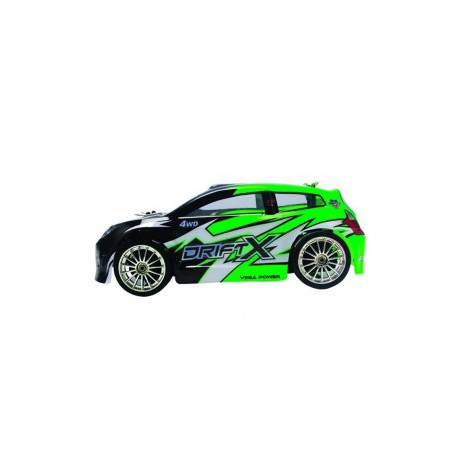 1/18 DRIFT X ELEC. 4WD 2,4GHZ VERDE