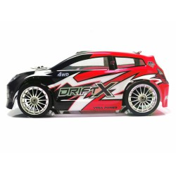 1/18 DRIFT X ELEC. BRUSHLESS ROJO 4WD 2,4GHZ BAT+CARG LIPO