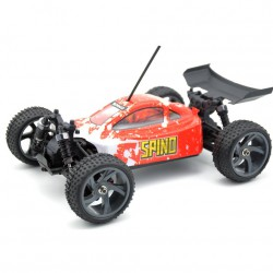 1/18 SPINO BUGGY ELEC. BRUSHLESS ROJO 4WD 2,4GHZ BAT+CARG LIPO