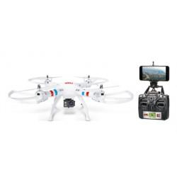 DRONE BLANCO/NEGRO C/CAMARA HD FPV C/PANTALLA SD4GB 2.4GHZ4AA DISTANCIA MAXIMA DE ALCANCE 45 METROS