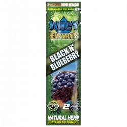 JUICY HEMP ROLLS BLACK BLUEBERRY -2 BLUNTS -